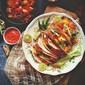 Baja Chili Fish Naan Tacos Recipe With Mango Salsa And Green Papaya Slaw