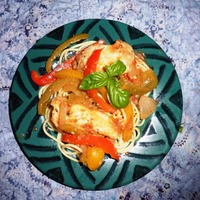 Tuscan Chicken with Peppers and Pasta