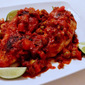 Chicken with Olives, Salsa and Lime