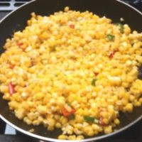 Fried Corn with Peppers