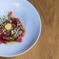 Tomato tartare, Albert Adrià-style, to celebrate tomato season and stave off Fall Creep.
