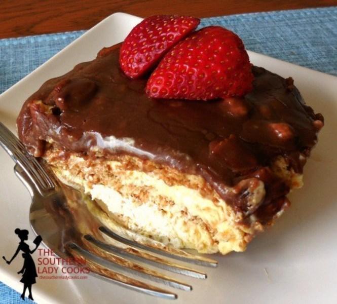 CHOCOLATE ECLAIR CAKE
