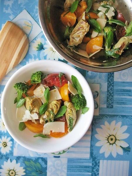 Heirloom Tomatoes Artichoke Hearts Salad