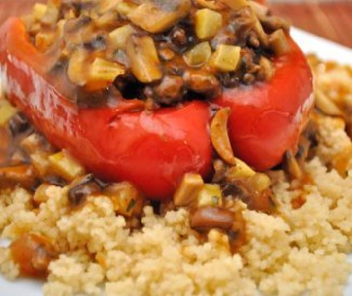 Red Peppers, Moroccan Style