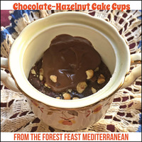 Abrams Dinner Party: The Forest Feast Mediterranean Cookbook...Featuring Chocolate-Hazelnut Cake Cups #AbramsDinnerParty #ForestFeastMediterranean #chocolate #hazelnut #cake #easybaking #sponsored