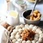Caramel Apple Tart with Cinnamon Cream in a buckwheat nut base #glutenfree #eggless #wholegrain #norefinedsugar
