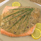 Poached Salmon with Bourbon Cream Sauce #FishFriday