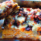 Mushroom and three cheeses lasagna