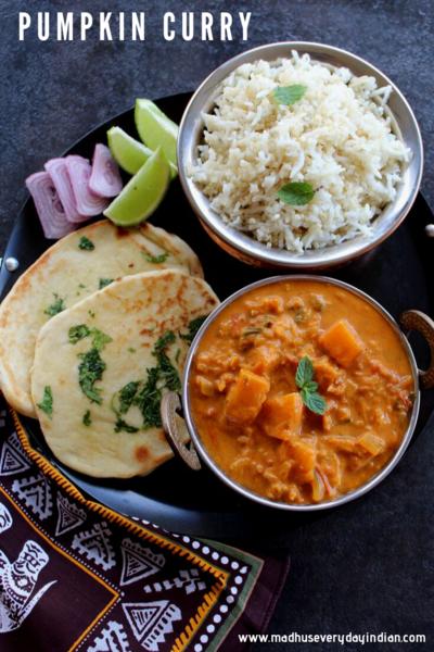 Indian Pumpkin Curry (vegan,1 pot recipe)