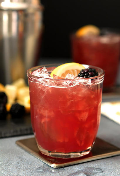 Blackberry, Bourbon, and Cranberry Cocktail