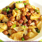 Chatpata Kala Chana / Spicy Black Chickpeas with Potatoes