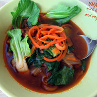 Umami soup with buckwheat and vegetables