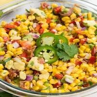 Steamed Spicy Corn Salad