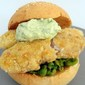 Fish Finger Roll With Crushed Peas