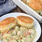 Chicken Pot Pie With Biscuits (Family Dinner!)