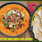 Super Bowl Food...Featuring Loaded Tex-Mex Chile con Queso #gamedayfood #appetizer #dip #chipsandqueso