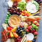 Vegetable, Fruit and Cheese Board