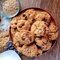 Air Fryer Peanut Butter Chocolate Chip Cookies