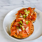 Mezcal-cured gravlax with chipotle-lime cream cheese: revisiting an old favorite with a fresh twist.
