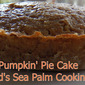 """""""Pumpkin"""" Pie Cake"""