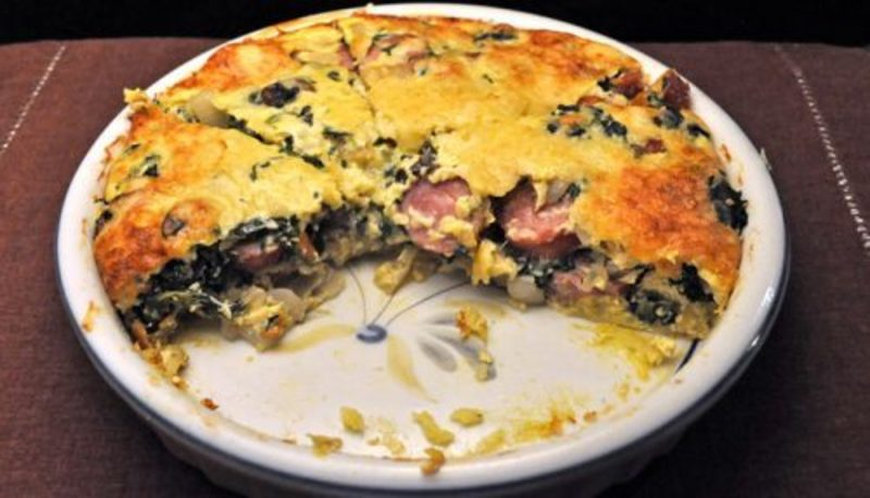 Sausage & Spinach Quiche; the town on the river ride