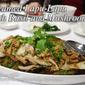 Steamed Lapu-Lapu with Basil and Mushrooms