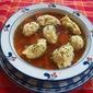 Chicken Soup with Flour Dumplings (Melboller)