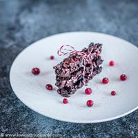 Easy No-Bake Keto Collagen Chocolate Cranberry Nut Bars
