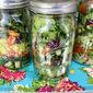 One Prep- 4 Salad Jars !