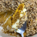 Pumpkin Coffee Cake with Cream Cheese and Streusel