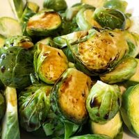 Balsamic Glazed Air Fryer Brussels Sprouts