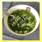 Miso Soup With Greens- -Oil Free
