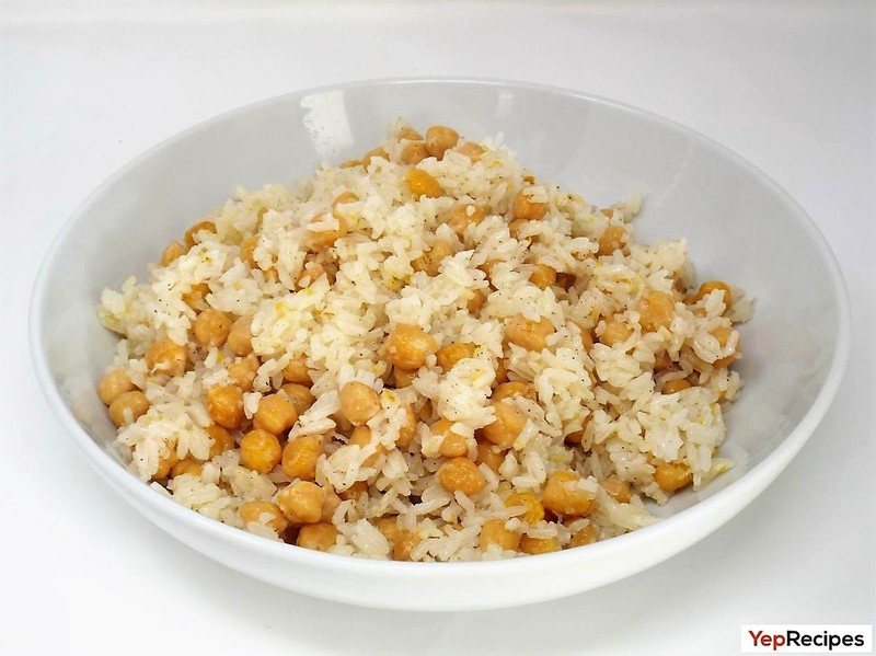 Chickpea and Lemon Rice Pilaf