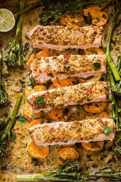 One-Pan Chilli Garlic Salmon