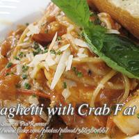 Spaghetti with Crab Fat