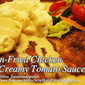 Pan-Fried Chicken in Creamy Tomato Sauce