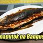 Pinaputok na Bangus with Salted Egg
