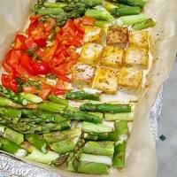 Sheet-Pan Mahi Mahi Asparagus Peppers