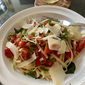 Spaghetti with Heirloom Tomatoes and Basil