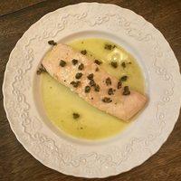 Salmon with Lemon Vinaigrette and Crispy Capers